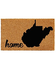 "West Virginia 18"" x 30"" Coir/Vinyl Doormat"