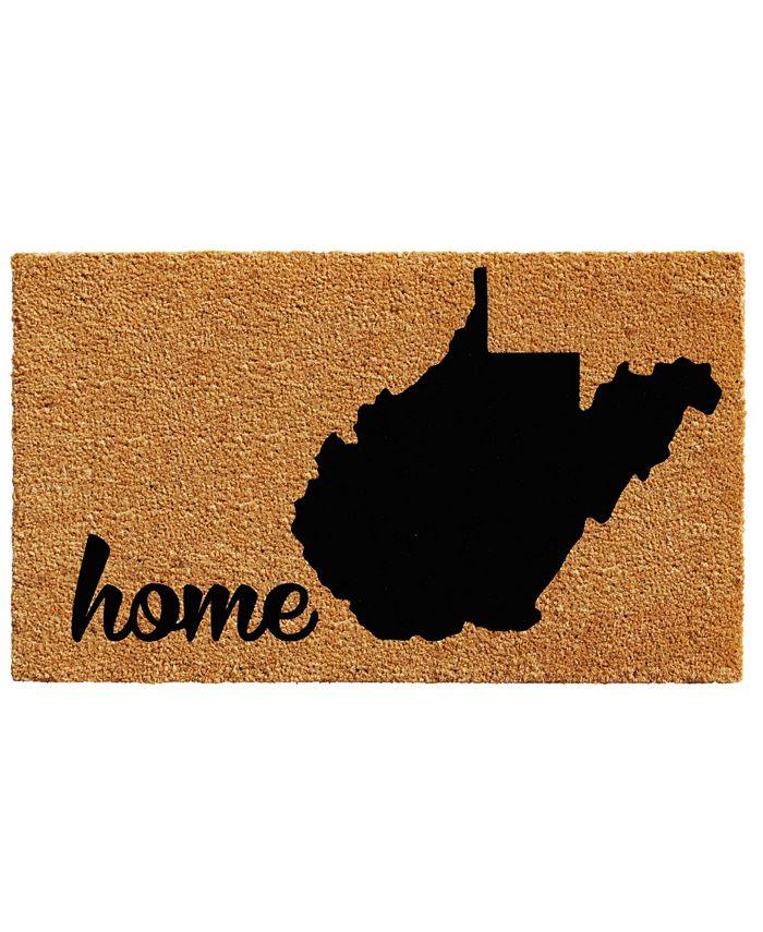 """Home & More - West Virginia 18"""" x 30"""" Coir/Vinyl Doormat"""