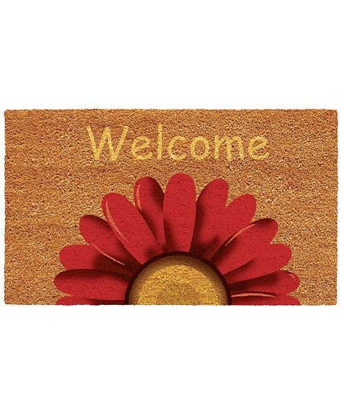 """Home & More Sunflower Welcome 17"""" x 29"""" Coir/Vinyl Doormat"""