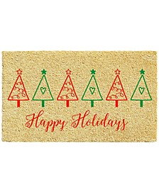"Christmas Tree Fun 17"" x 29"" Coir/Vinyl Doormat"
