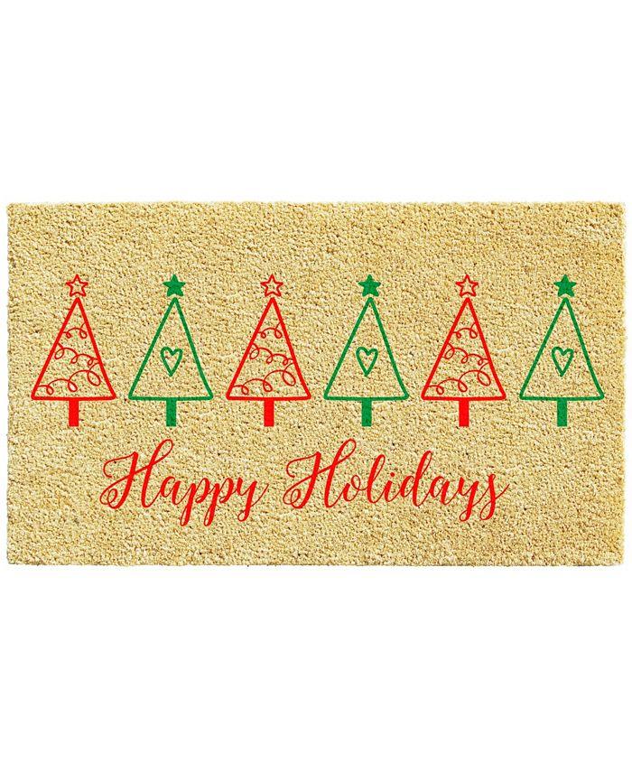 "Home & More - Christmas Tree Fun 17"" x 29"" Coir/Vinyl Doormat"