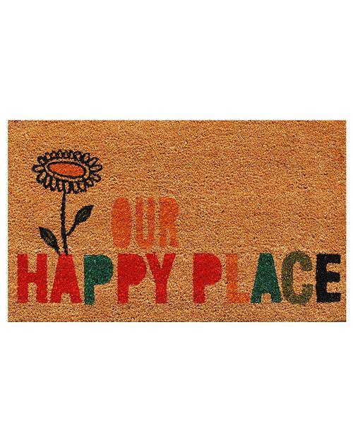 """Home & More Our Happy Place 17"""" x 29"""" Coir/Vinyl Doormat"""