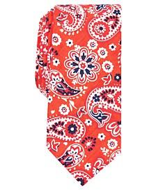 Bar III Men's Beacon Skinny Paisley Tie, Created for Macy's