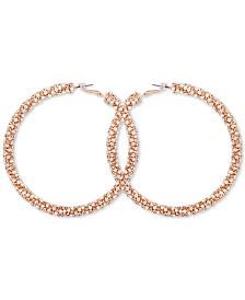 GUESS Gold-Tone Pavé Large Hoop Earrings