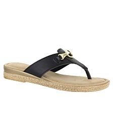 Tuscany by Easy Street Farah Thong Sandals