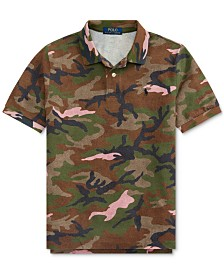 Polo Ralph Lauren Big Boys Camo Cotton Mesh Polo Shirt