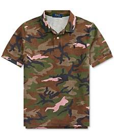 Polo Ralph Lauren Big Boys Camo Cotton Mesh Polo Shirt