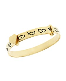 Beatrix Potter Gold Plated Sterling Silver Expander Bangle Bracelet