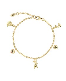 Beatrix Potter Gold Plated Sterling Silver Charm Bracelet