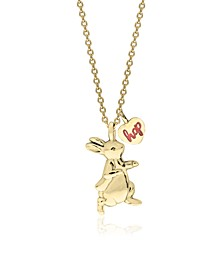 Beatrix Potter Sterling Silver Peter Rabbit Pendant Necklace with Charm