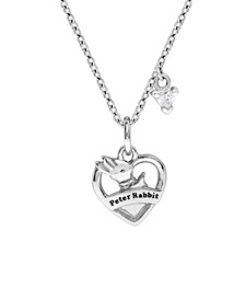 Beatrix Potter Sterling Silver Peter Rabbit Heart Shaped Pendant Necklace