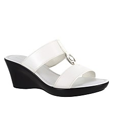 Tuscany by Easy Street Calla Wedge Sandals
