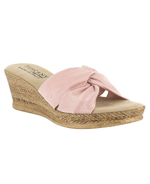 Easy Street Tuscany by Dinah Wedge Sandals