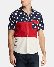 Polo Ralph Lauren Men's Classic Fit Americana Colorblocked Shirt