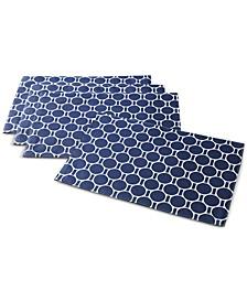 Boardwalk Dot Navy Placemats, Set of 4