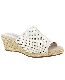 Easy Street Mandy Espadrille Slide Sandals