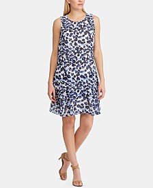 Lauren Ralph Lauren Petite Tiered-Ruffle Floral Dress