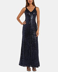 XSCAPE Petite Sequinned Gown