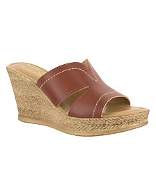 Tuscany by Easy Street Marsala Wedge Sandals
