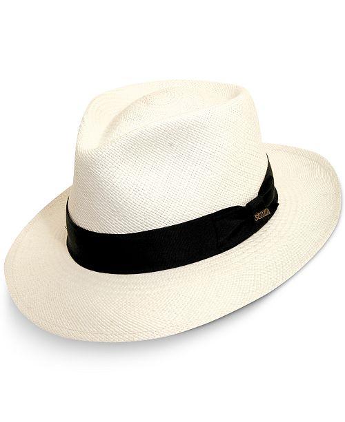 Dorfman Pacific Men's Panama Gambler Hat
