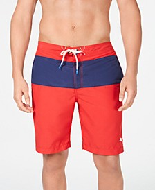 "Men's Botticelli Baja Colorblocked 9"" Board Shorts, Created for Macy's"