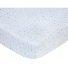 Carter's 100% Cotton Sateen Fitted Crib Sheet - Blue Arrow