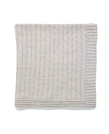 Baby Mode Signature Baby Boys and Girls All Cotton Cable Knit Blanket