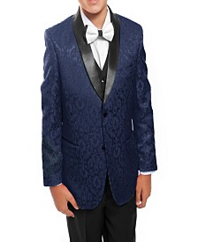 Tazio Shawl Collar Floral Pattern 2 Button Suits for Boys
