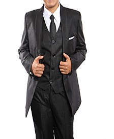 Shawl Collar Classic Fit 2 Button Vested Suits for Boys
