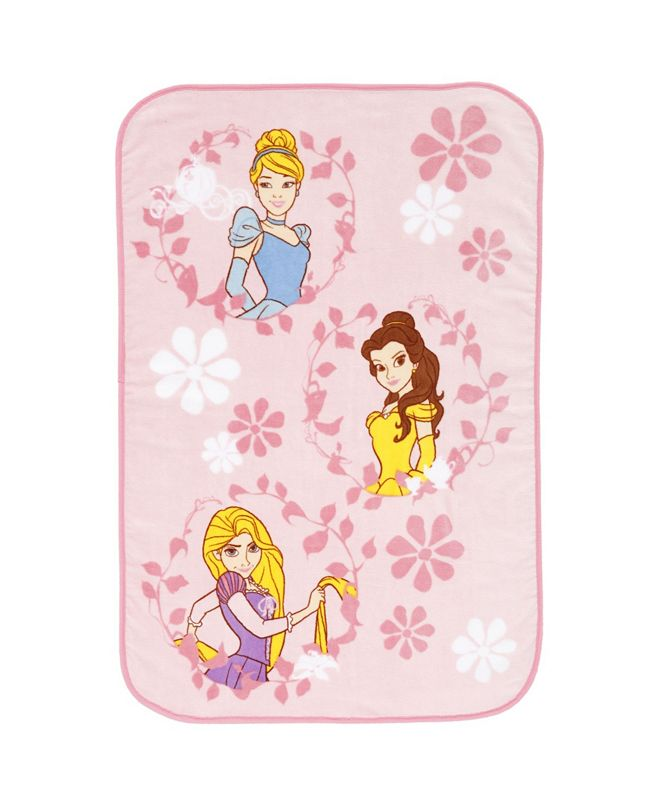 Disney Princess Super Soft Scenic Coral Fleece Toddler Blanket