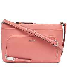 Calvin Klein Lily Saffiano Leather Crossbody