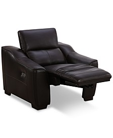 "CLOSEOUT! Ruthin 44"" Large Leather Recliner with Power Headrest and Footrest"