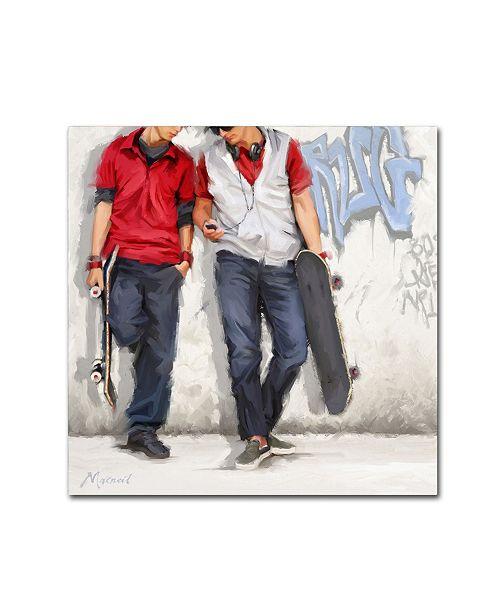 """Trademark Global The Macneil Studio 'Graffiti' Canvas Art - 35"""" x 35"""" x 2"""""""