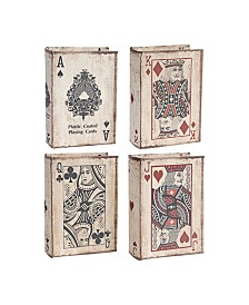 Ace Playing Cards Book Boxes, Set of 4