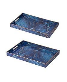 Modern Chic Rectangular Trays, Set of 2