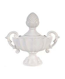 Nera Porcelain Decorative Handled Jar, Medium