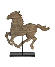 Defiance Spirited Polyresin Horse Accent, Large