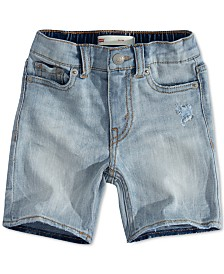 Levi's® Baby Boys Slim-Fit Lightweight Stretch Denim Shorts