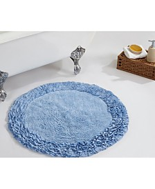 Better Trends Ruffle Round Bath Rug 30""