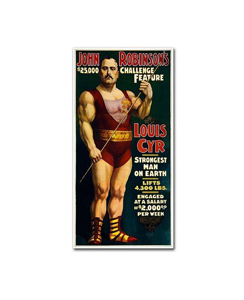 "Trademark Global Vintage Lavoie '1898-Circus' Canvas Art - 10"" x 19"" x 2"""