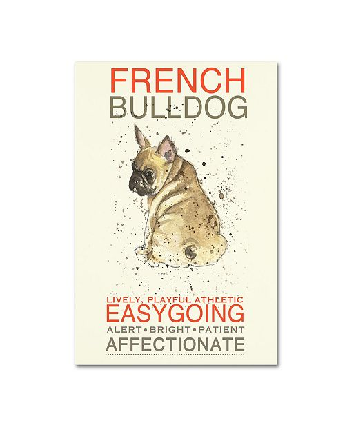 "Trademark Global Michelle Campbell 'French Bulldog' Canvas Art - 24"" x 16"" x 2"""