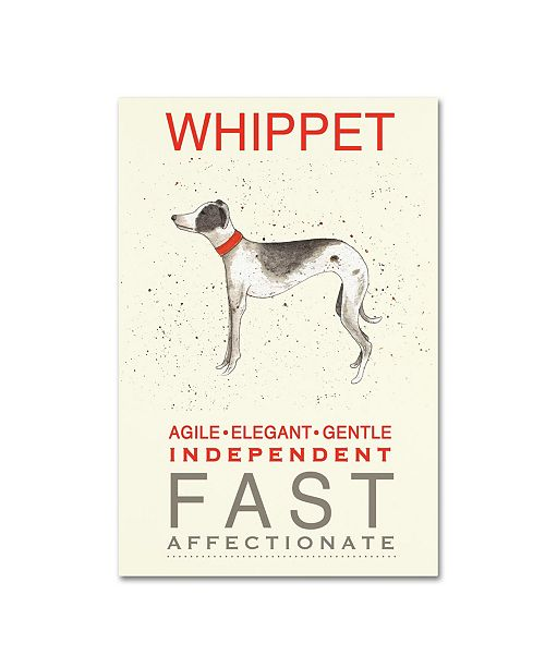 "Trademark Global Michelle Campbell 'Whippet Print' Canvas Art - 47"" x 30"" x 2"""