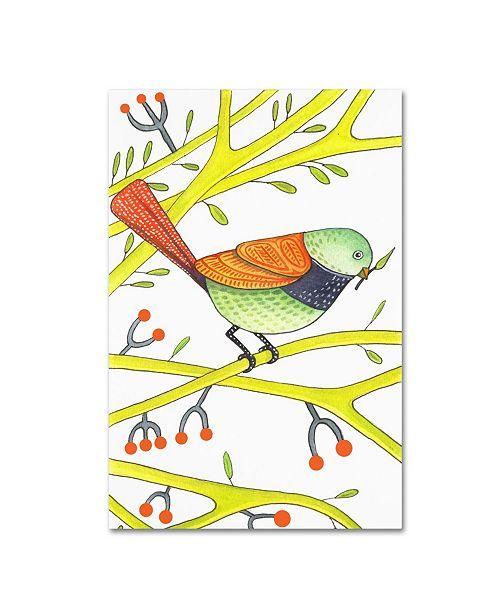 """Trademark Global Michelle Campbell 'Bird Design 2' Canvas Art - 19"""" x 12"""" x 2"""""""