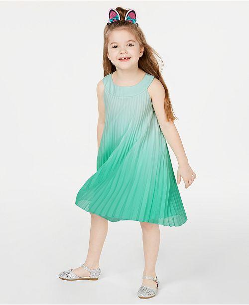 135f1b10a393d ... Rare Editions Little Girls Ombré Pleated Chiffon Dress ...