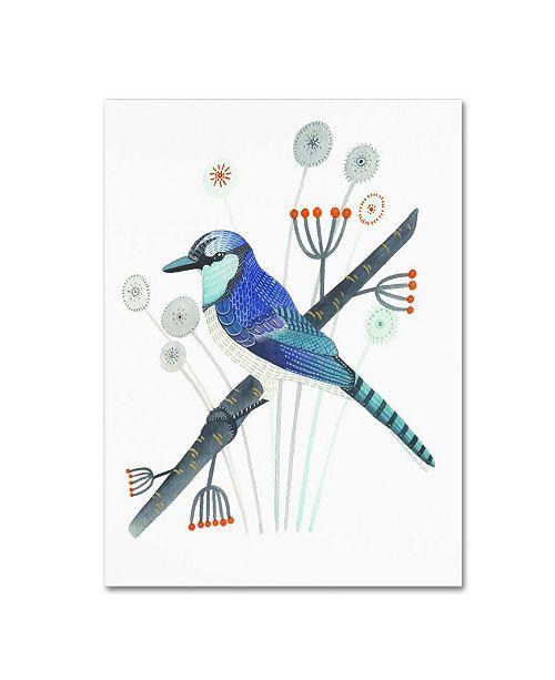 "Trademark Global Michelle Campbell 'Blue Jay' Canvas Art - 32"" x 24"" x 2"""