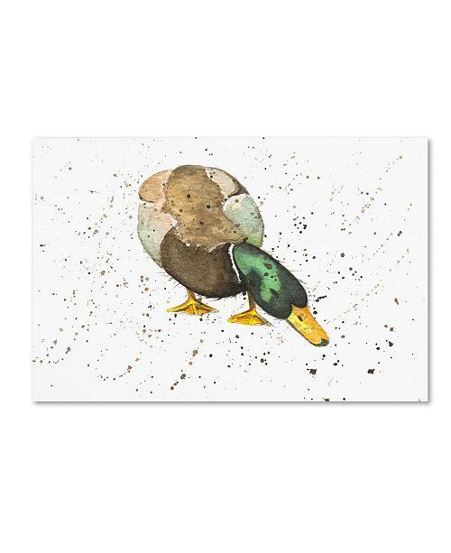 """Trademark Global Michelle Campbell 'Duck 4' Canvas Art - 19"""" x 12"""" x 2"""""""