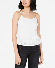 Eyelet-Lace Peplum Top, Created for Macy's