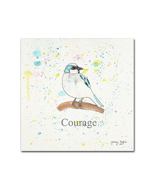 "Trademark Global Tammy Kushnir 'Courage 1' Canvas Art - 18"" x 18"" x 2"""