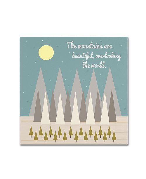 "Trademark Global Tammy Kushnir 'Beautiful Mountains' Canvas Art - 24"" x 24"" x 2"""