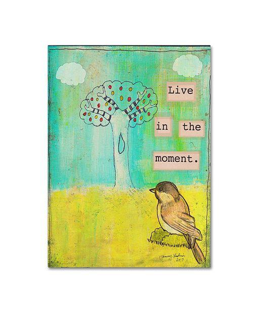 "Trademark Global Tammy Kushnir 'Live In The Moment' Canvas Art - 47"" x 35"" x 2"""